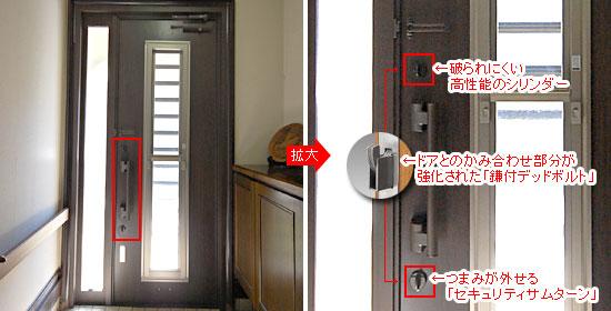 玄関ドアリフォーム 鍵は破られにくい高性能のシリンダー