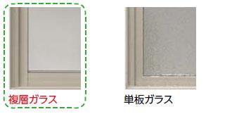 複層ガラス 単板ガラス